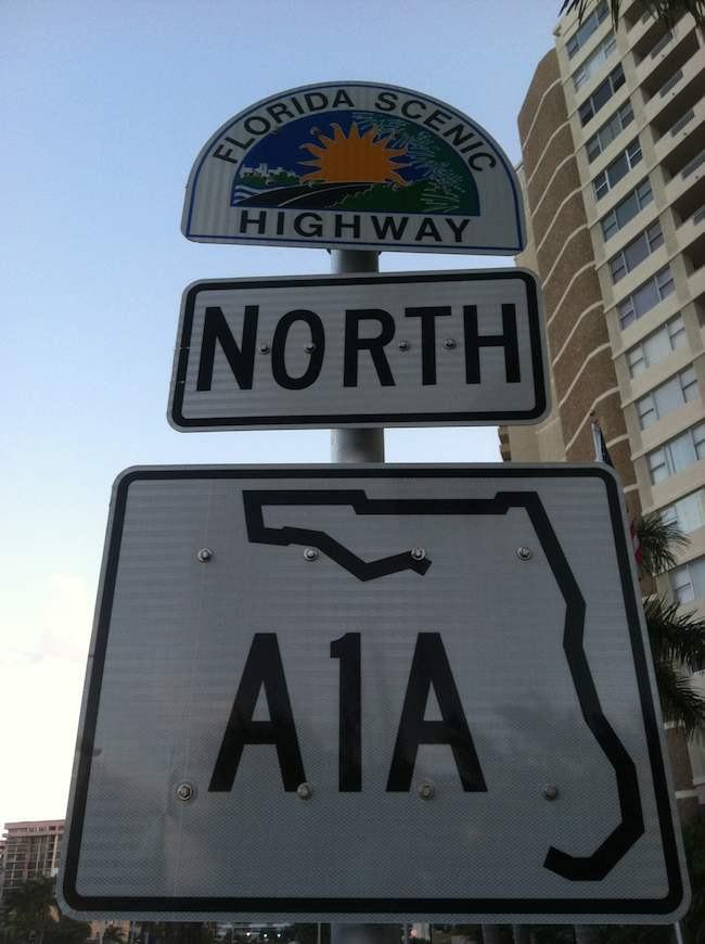 highway A1A, South Florida road trips