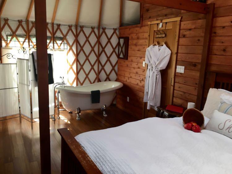 luxury yurt: romantic lodging at Merridale Ciderworks