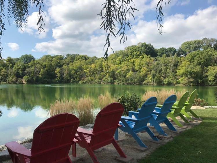 Adirondack chairs in Rotary Botanical Garden Janesville WI