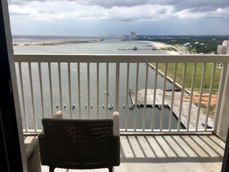 Margaritaville Resort Biloxi sunset view, 27th floor room balcony
