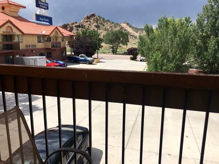 balcony room at Days Inn& Suites Red Rock-Gallup NM