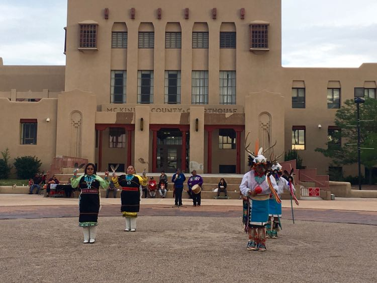 nightly Indian dances in Gallup New Mexico