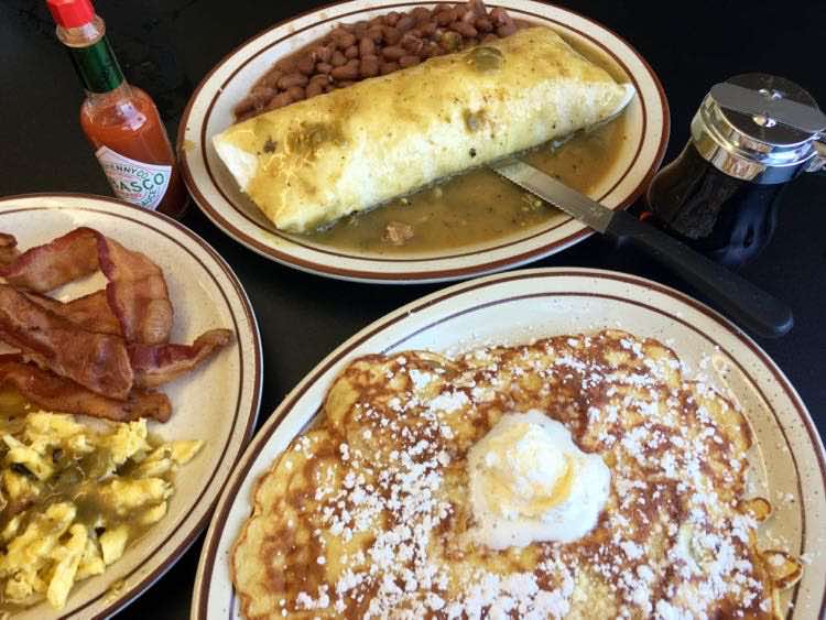 breakfast at Sandra's Place in Gallup New Mexico