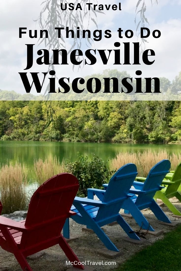 Fun things to do in Janesville Wisconsin include a mix of downtown dining and shopping, outdoor activities, interesting history, and a top-rated botanical garden.