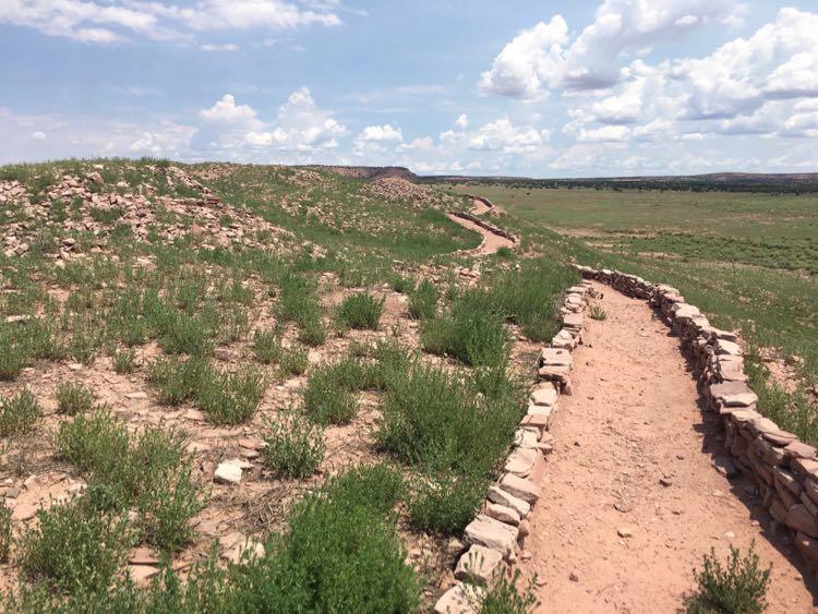 walls of Hawikku on Zuni reservation