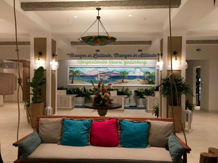lobby of Margaritaville Resort Gatlinburg