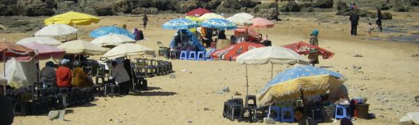 Casablanca beach Morocco mint tea