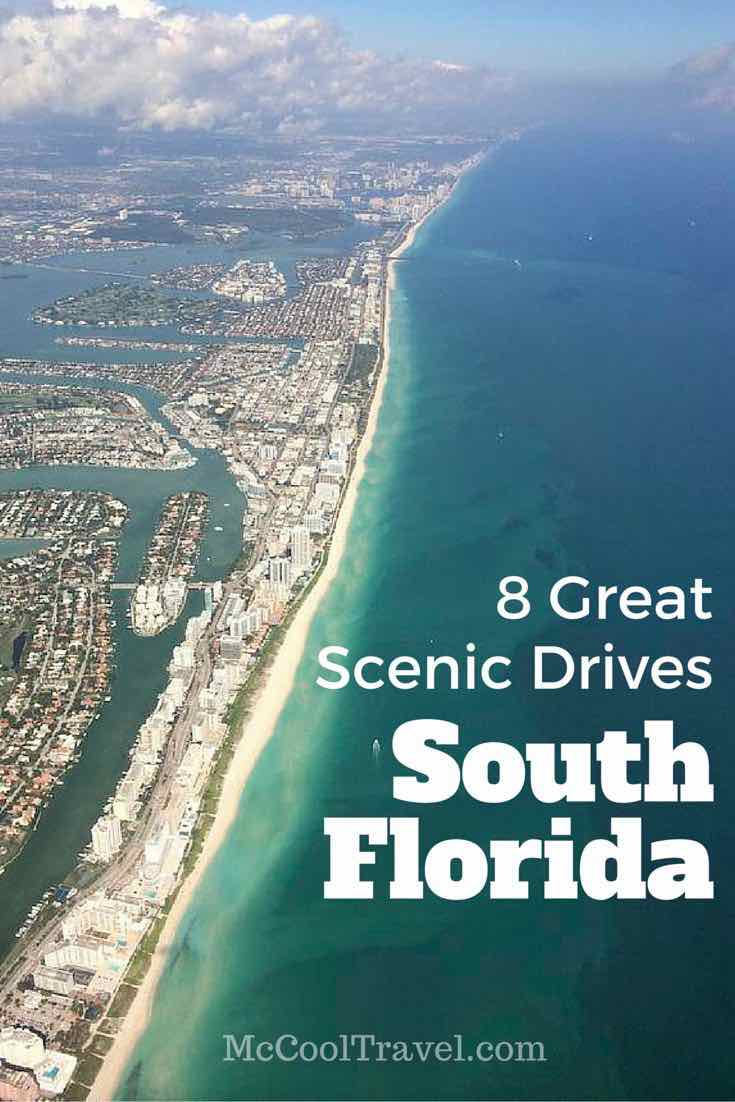 There are 8 great scenic drives in South Florida. Since learning to drive 30 years ago in South Florida, I have found some wonderful scenic drives.