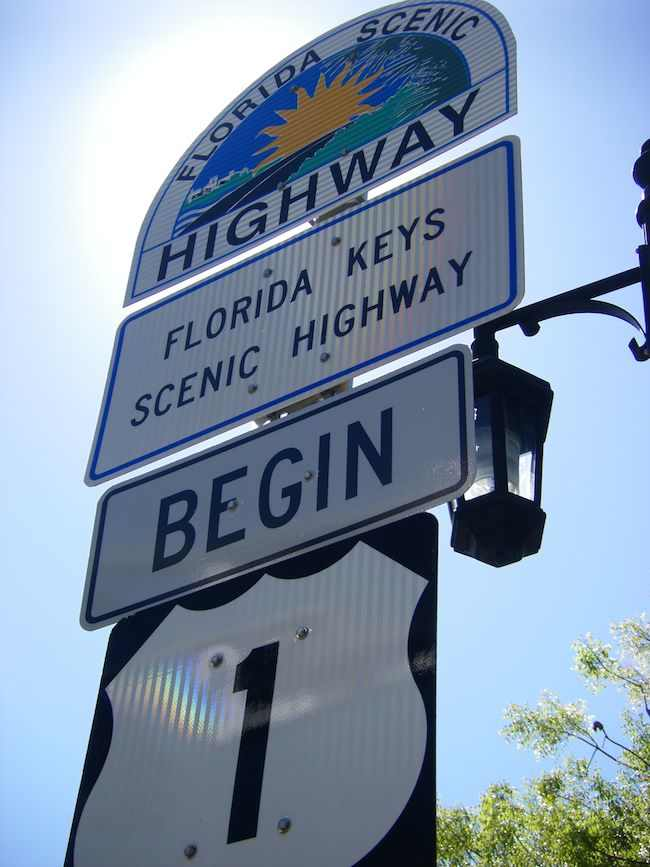 Florida Keys sign, Scenic Drives in South Florida by McCool Travel