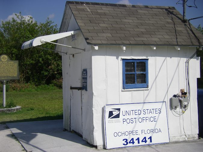 Ochopee Florida post office, Scenic Drives in South Florida by McCool Travel