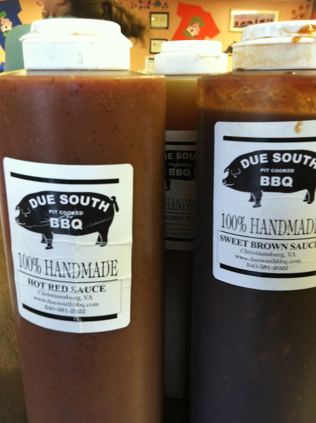 summer foods: Due South BBQ, Christiansburg, VA