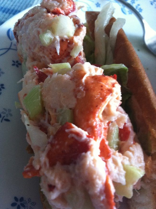 summer foods: lobster roll, Leominster, MA