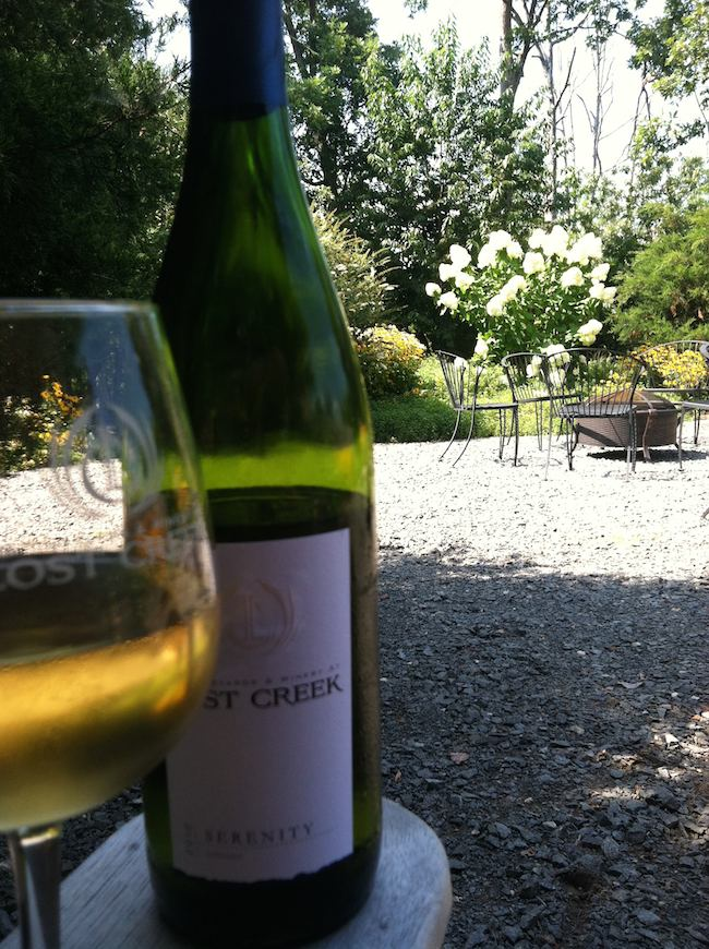 summer foods: Lost Creek Winery, Leesburg, VA
