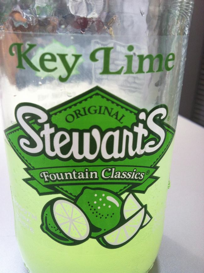 summer foods: refreshing Stewart's Key Lime Soda.