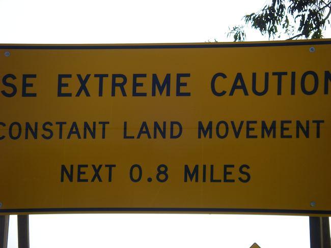 California Road Trip Signs: Portuguese Bend, Palos Verdes, California