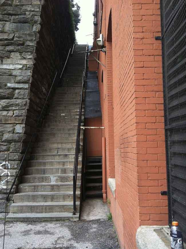 quirky travel photos: Exorcist Stairs