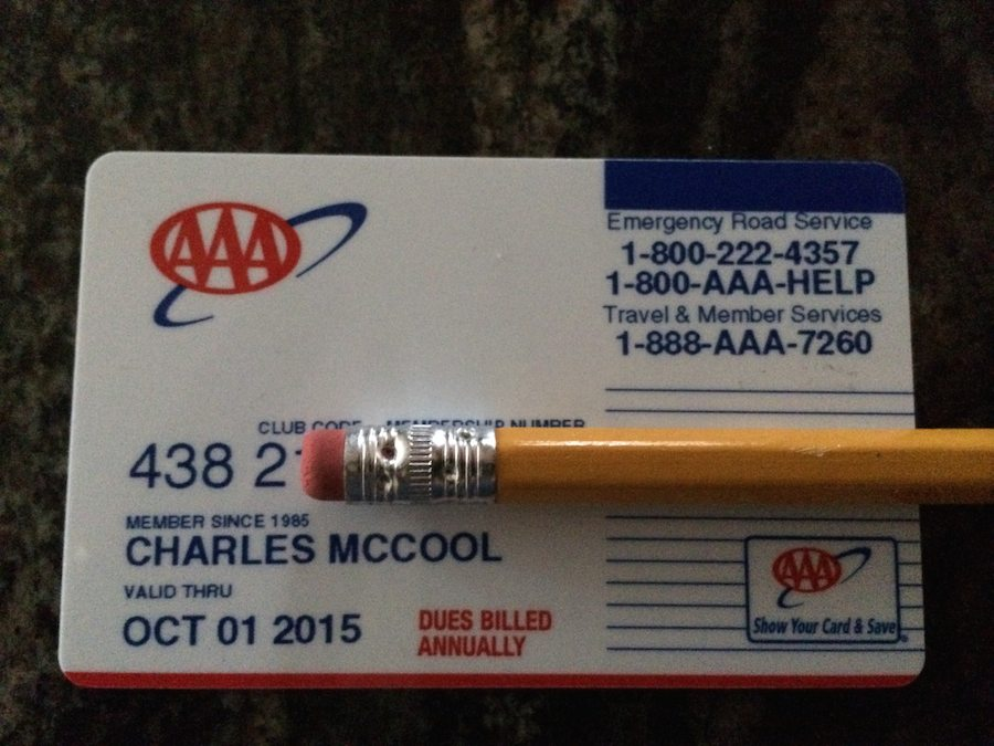 1. Always keep your AAA membership card with you. According to AAA, the membership provides benefits to the actual member, not the vehicle. That means if you are with someone else who is having car problems, you can use your card to get service for their vehicle.