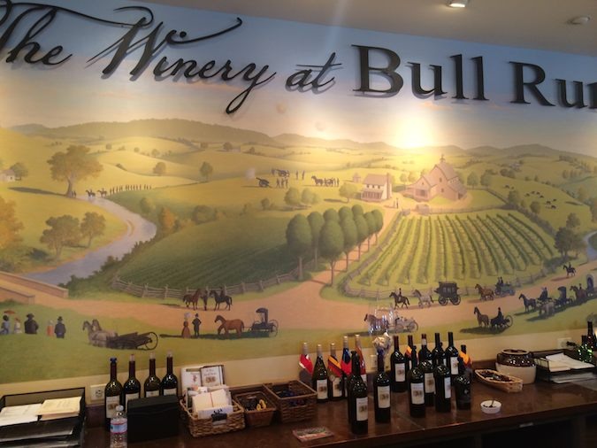 places to visit near washington dc: the winery at Bull Run