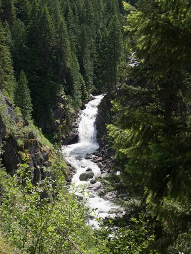 Idaho Route 12 waterfall