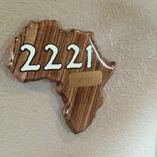 Kalahari Resort room sign