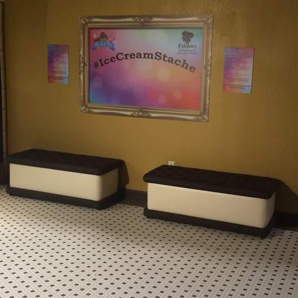 Kalahari ice cream benches