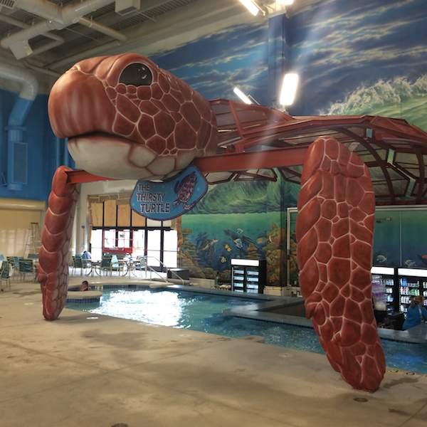 Kalahari Resort Pocono swim up bar