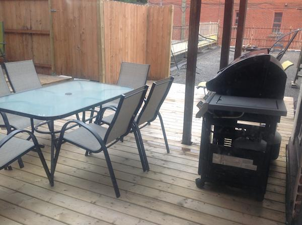 Airbnb Montreal deck