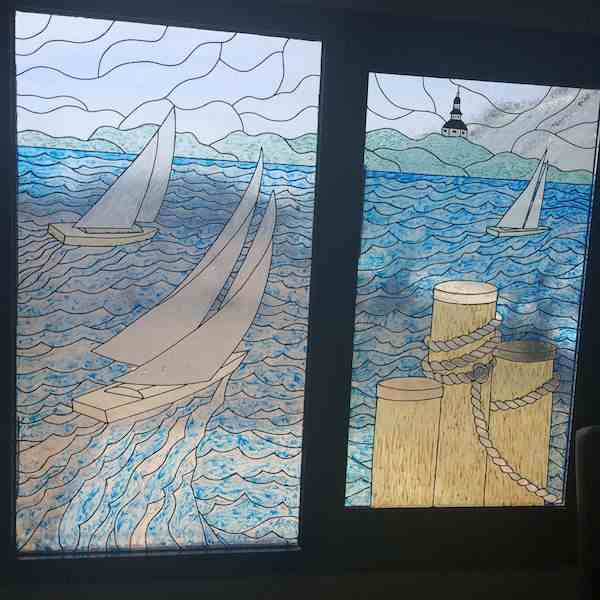 things to do in Annapolis: Loews Annapolis stained glass by Charles McCool for McCool Travel
