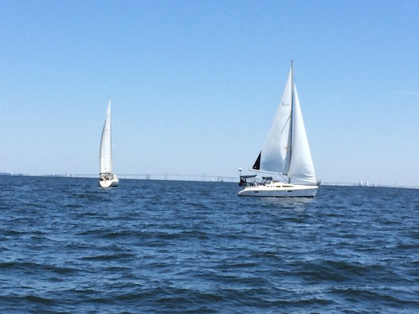 Sailing on Chesapeake Bay from Annapolis