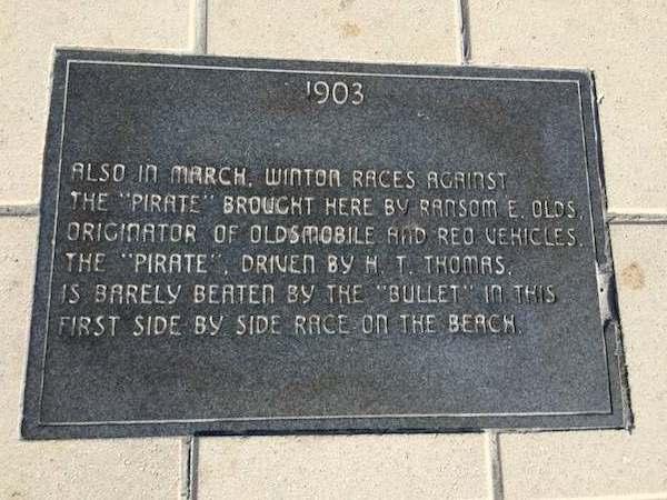 Daytona Beach speed marker