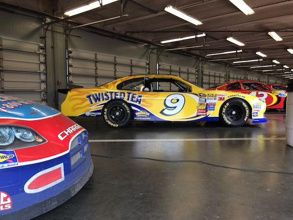 Daytona Speedway garage cars