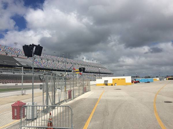 Daytona Speedway from the infield