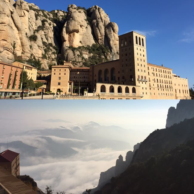 Montserrat Abbey above and below
