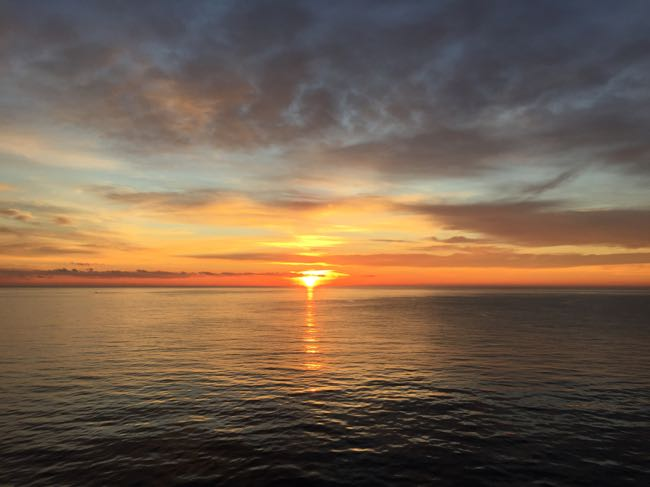 Sunrise from Viking Star, Monaco
