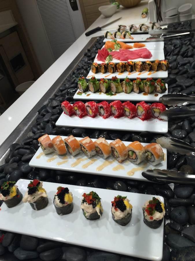 Viking Cruises : Viking Star : sushi at World Cafe