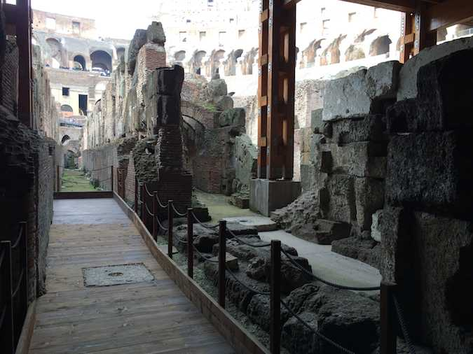 Rome Italy Colosseum lower level