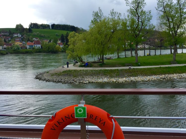 Leaving Passau Viking River
