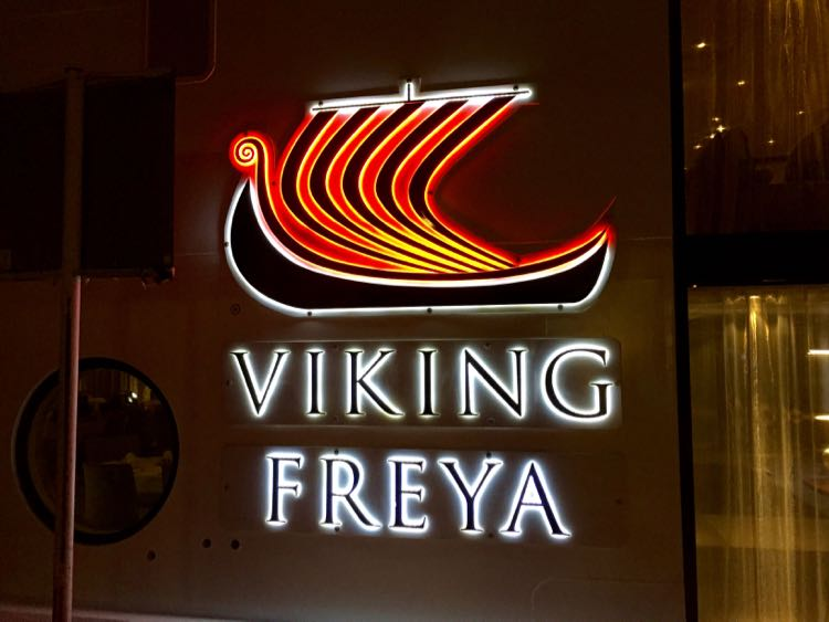 Viking Freya sign Viking River Cruises