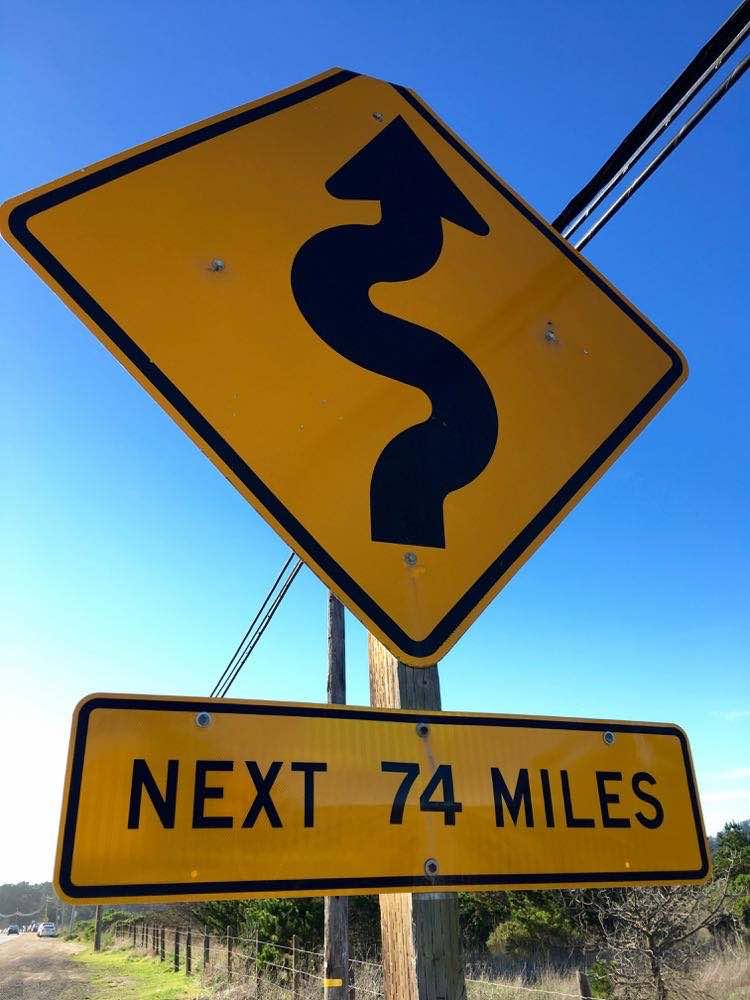 Big Sur: California road trips signs