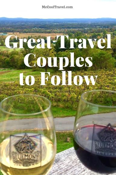 Many great travel couples inspire, entertain, and educate me with their travel stories, photos, and adventures. Here are some great travel couples to follow