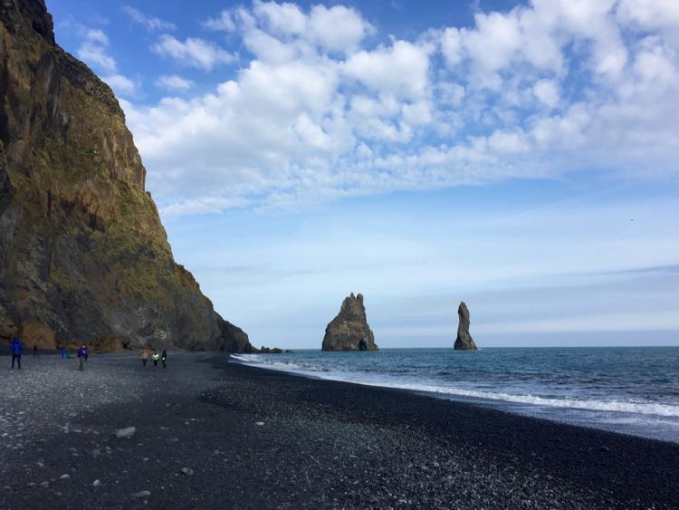 Black Sand Beach pillars Iceland