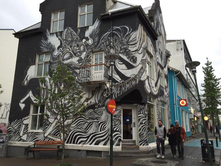 Downtown street art Rejkyavik Iceland