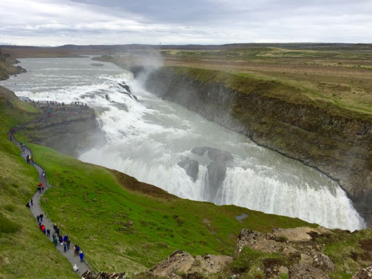 Gullfoss path Golden Circle Iceland