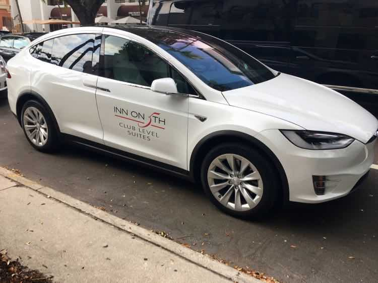 Relaxed Luxury Resorts in Florida: Inn on 5th Naples Tesla shuttle