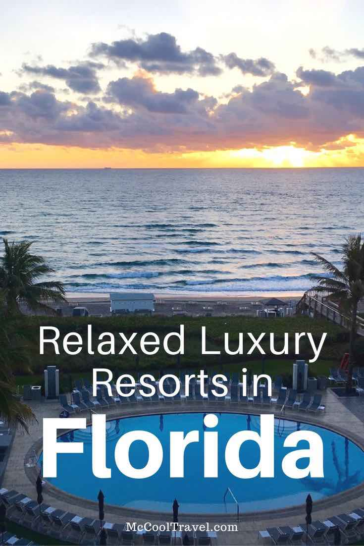 Most Relaxed Luxury Resorts in Florida are located along the beach so you can almost roll out of bed and onto the sand. Wear your flip flops to fine dining.