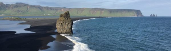 Reynisfjara Beach from lighthouse Iceland