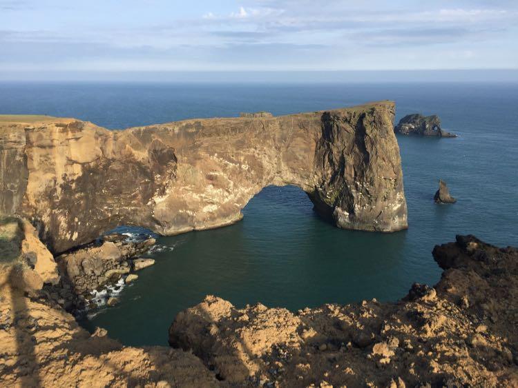 arch near Dyrholaey lighthouse Iceland