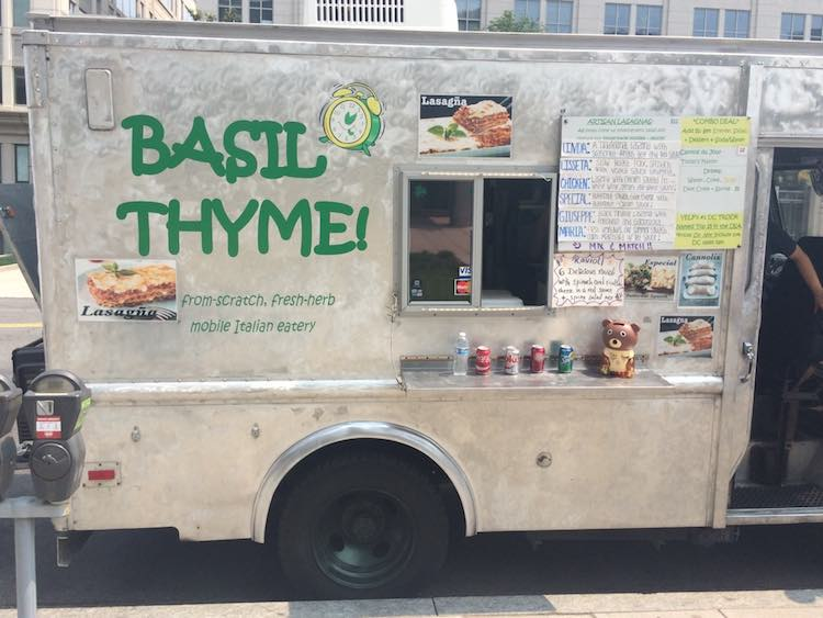DC food trucks: Basil Thyme. Article and photo by Charles McCool for McCool Travel