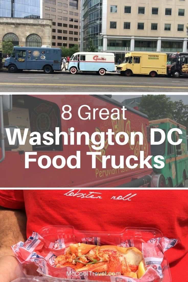 Eating at Washington DC food trucks is like taking a trip around the world. Choose from Asian, Latin, African, American, & fusion. And dessert food trucks!