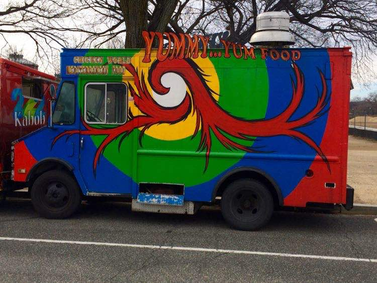 Washington DC food trucks. Article and photo by Charles McCool for McCool Travel